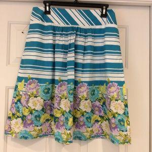 NWOT Talbots A-Line Cotton Skirt Womens Size 8